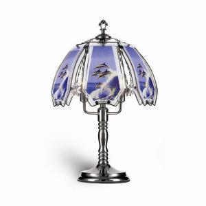 ORE International 23.5 inch Dolphin Black Touch Lamp by ORE International