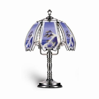 23.5 in. Dolphin Black Touch Lamp