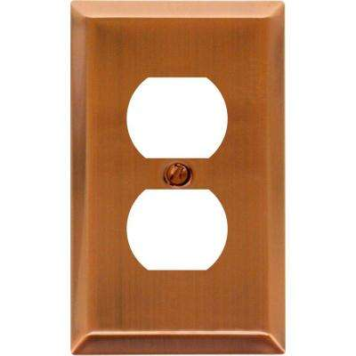 Century 1 Duplex Steel Wall Plate - Antique Copper