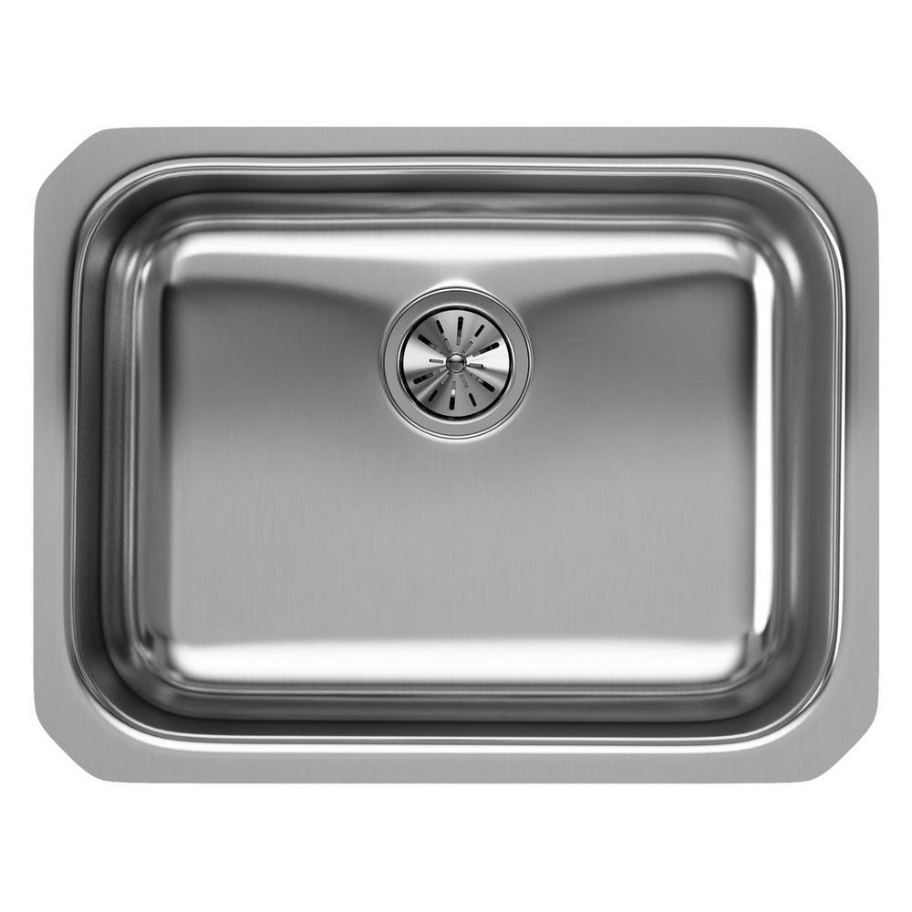 Elkay Undermount Stainless Steel 24 in. Single Bowl Kitchen Sink ...