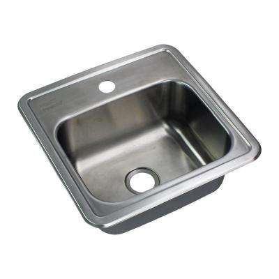Select Drop-In Stainless Steel 15 in. 1-Hole Single Bowl Kitchen Sink in Brushed Stainless Steel