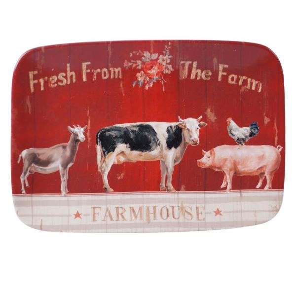 Certified International Farmhouse Multi-Colored 14 in. Earthenware Rectangular