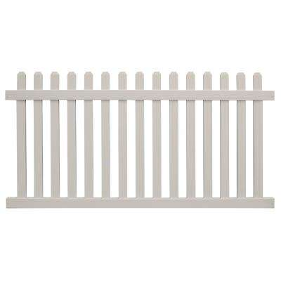 Chelsea 3 ft. H x 8 ft. W Tan Vinyl Picket Fence Panel Kit