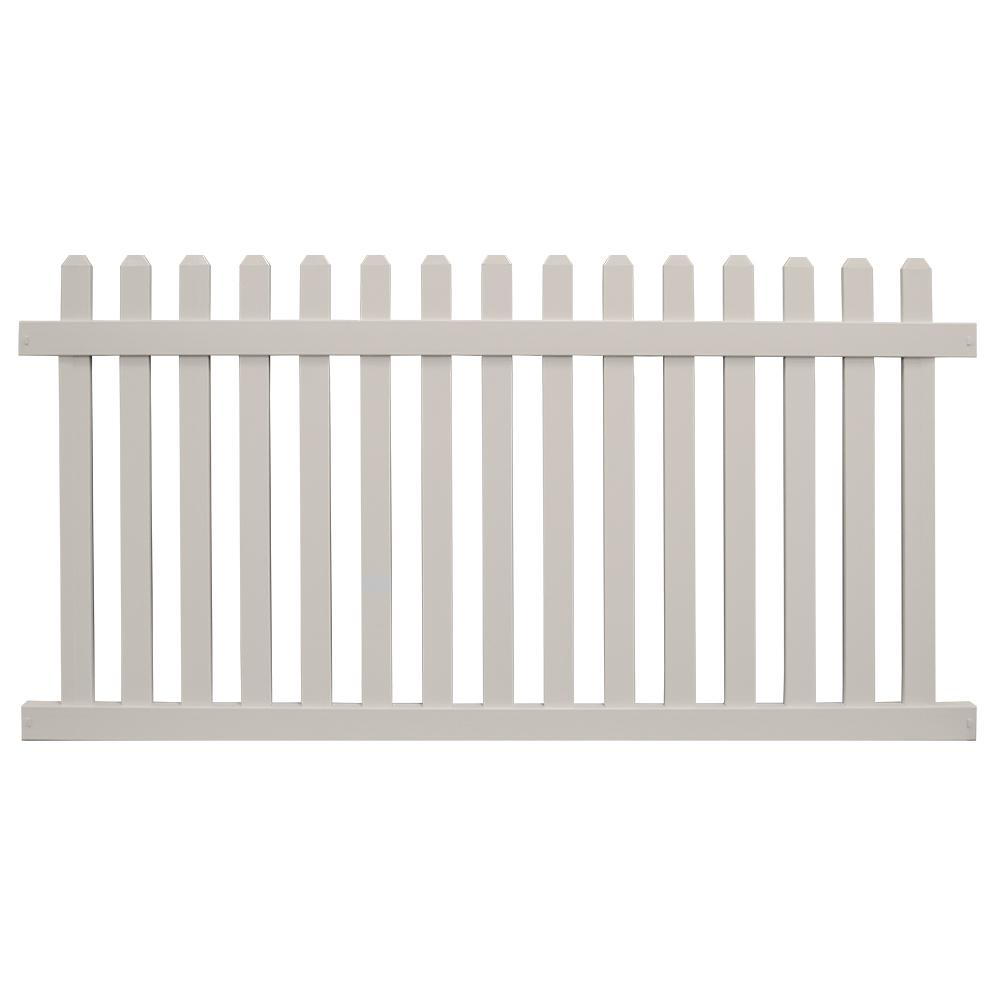 Chelsea 5 ft. H x 8 ft. W Tan Vinyl Picket