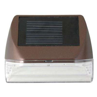 Solar Bronze Integrated LED Mini Deck Light