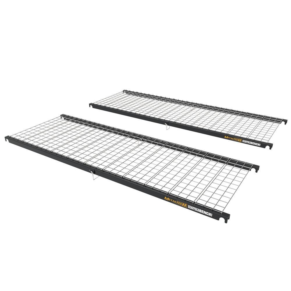 Scaffold Bench Storage Shelf (2-Pack)