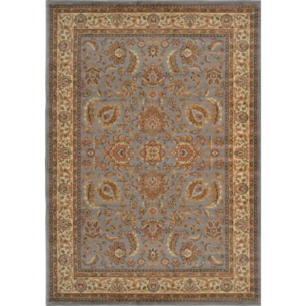 Home Dynamix Royalty Blue Ivory 3 Ft X 4 Indoor Area Rug