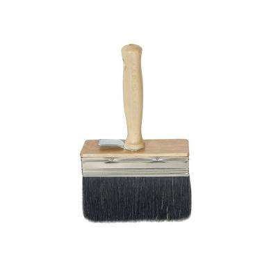 6 in. x 2 in. White Wash Brush with Black Bristle