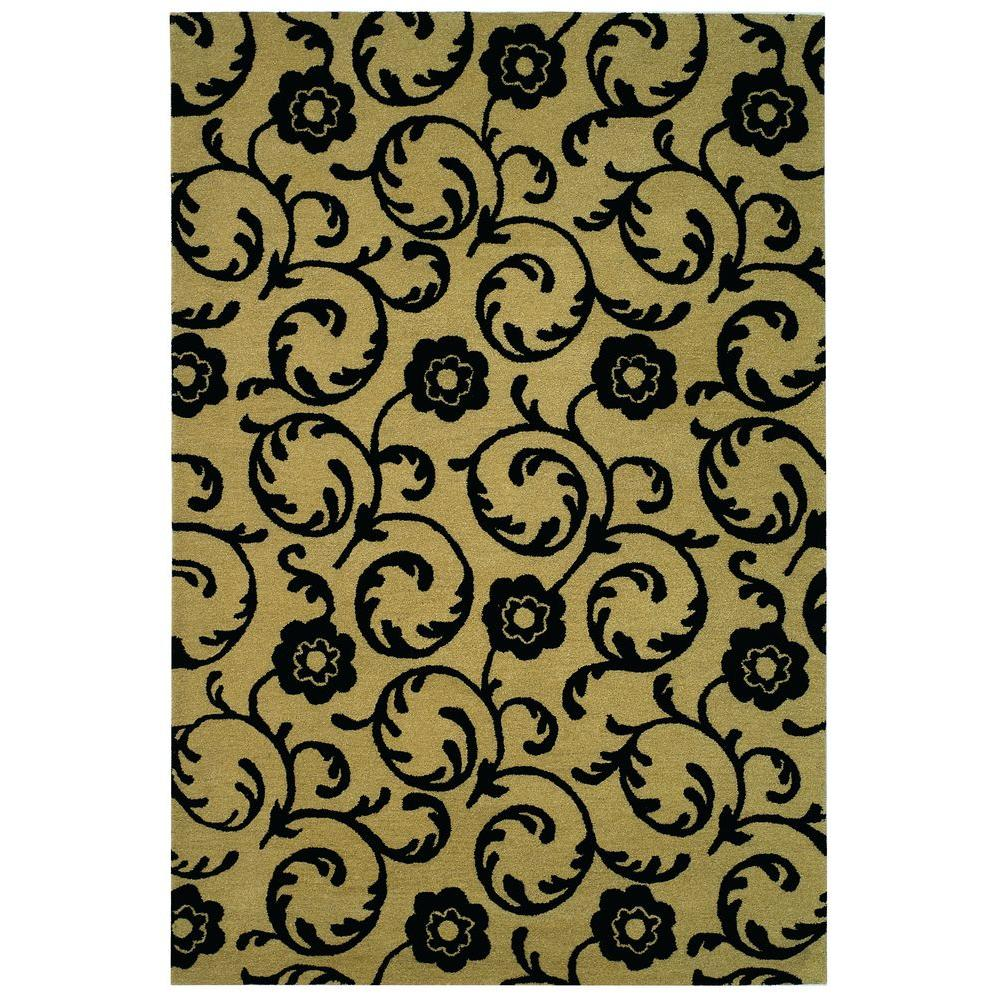 Soho Beige/Black 5 ft. x 8 ft. Area Rug