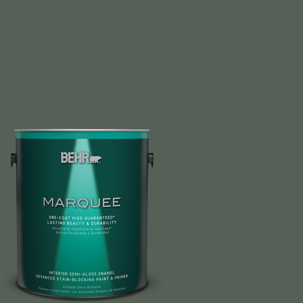 BEHR MARQUEE 1 gal. #MQ6-14 Northern Glen One-Coat Hide Semi-Gloss Enamel Interior Paint