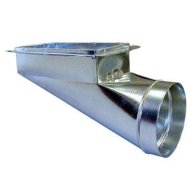 12 in. x 6 in. x 7 in. End Register Box with Flange