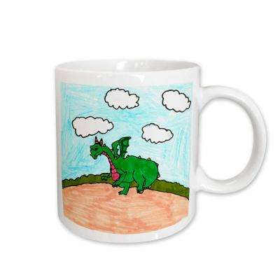 Young Artist Expo 11 oz. White Ceramic Dinosaur Mug