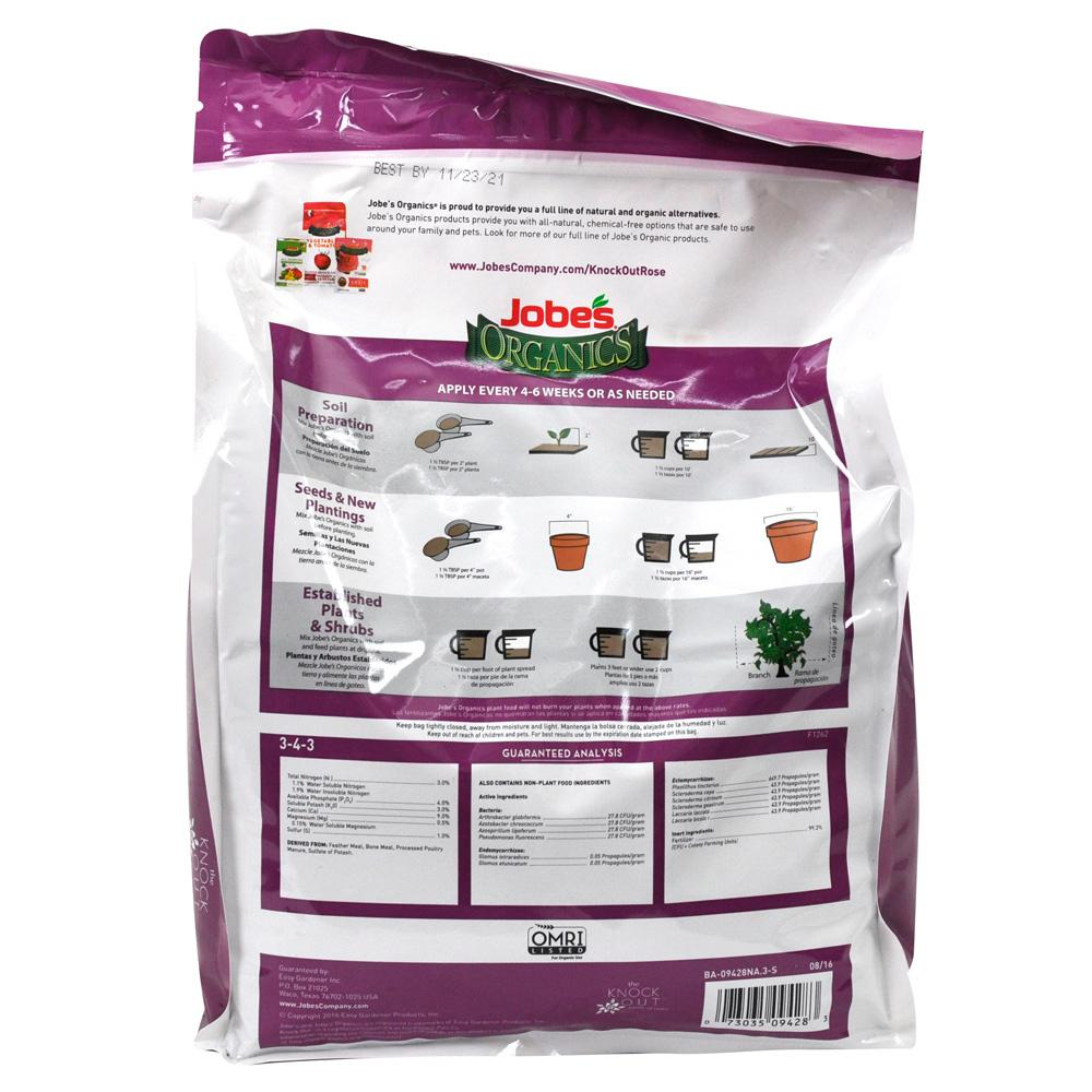 8 Lb. 100% Organic Knock-Out Rose Plant Food Bag