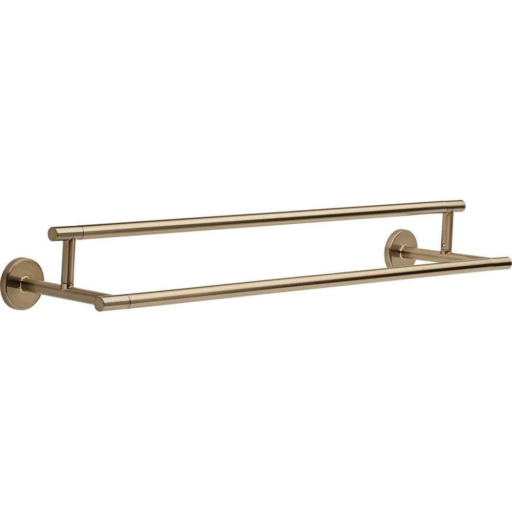 Delta Trinsic 24 in. Double Towel Bar in Champagne Bronze