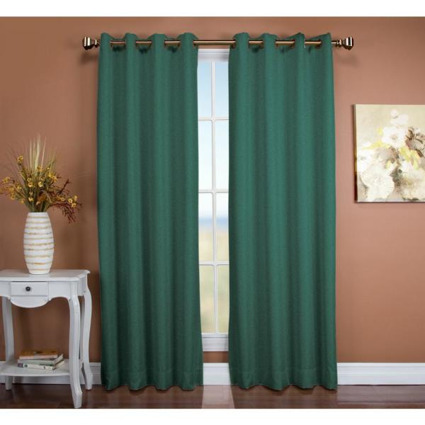 Tacoma 50 in. W x 84 in. L Polyester Double Blackout Grommet Patio Panel in Woodland Green