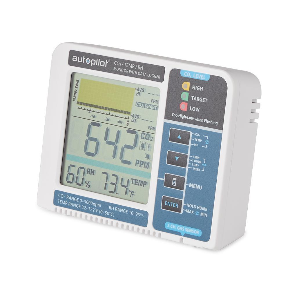APCEM2 Hydroponic Gardening CO2 RH Temperature Monitor and Data Logger