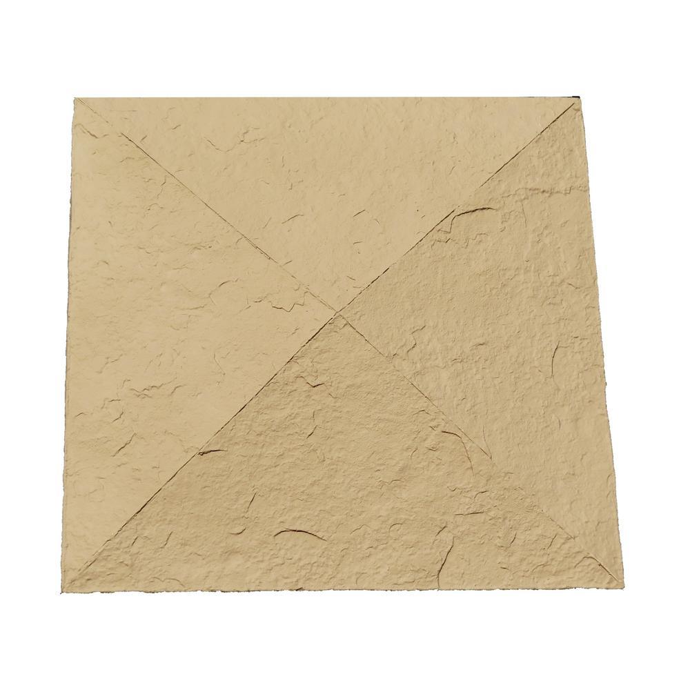 Sandstone 18 in. x 18 in. Buff Faux Polyurethane Stone Column Wrap Cap