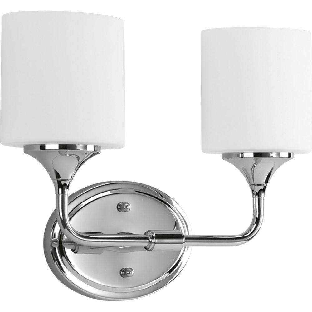 Progress Lighting Lynzie 2-Light Chrome Vanity Fixture