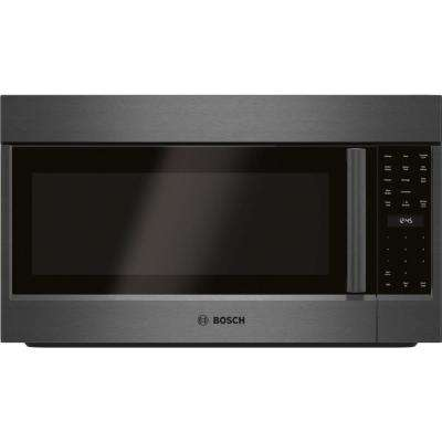 800 Series 30 in. 1.8 cu. ft. Over the Range Convection Microwave in Black Stainless Steel