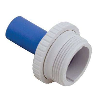 1 1/2 in. MIP Inlet Fitting Hydrostream with 1 in. Rubber Nozzle in White