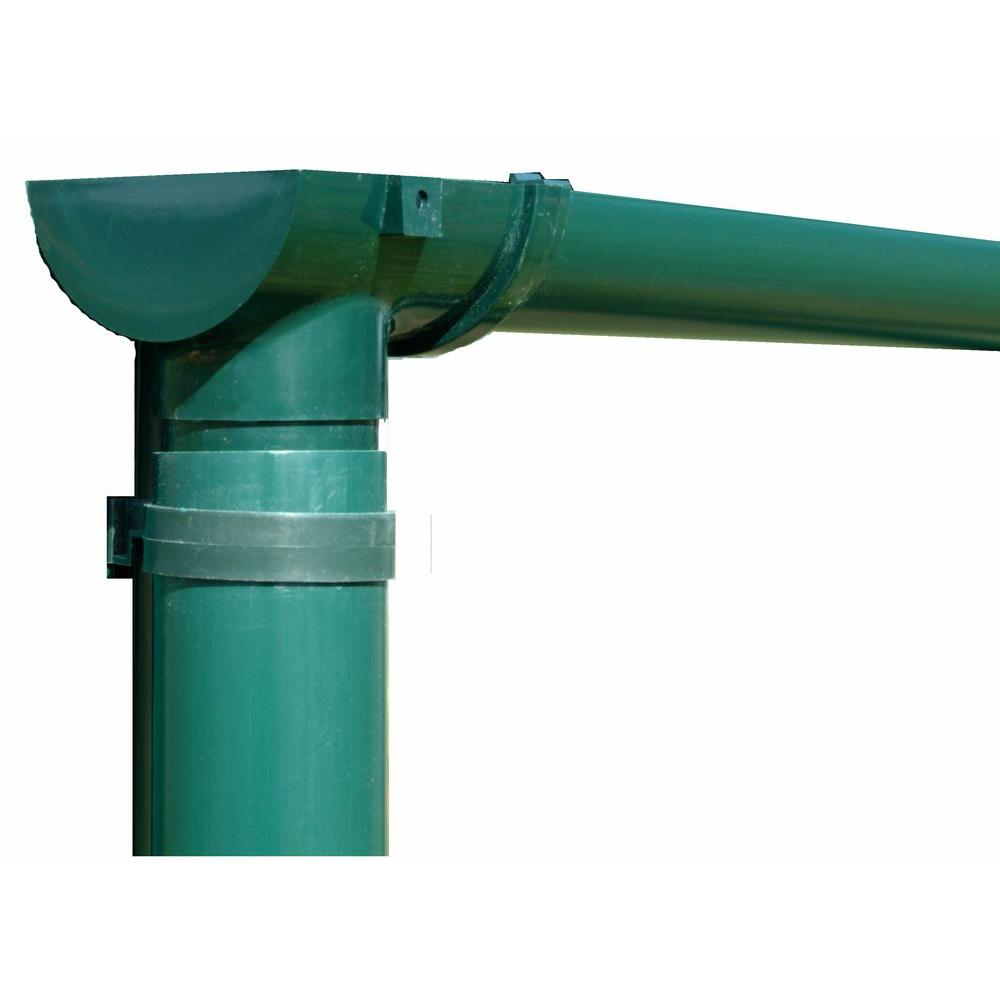 Rion 8 ft. Greenhouse Rain Gutter Kit with Down Spout