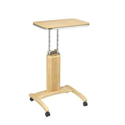 Precision Maple Laptop Stand with Wheels
