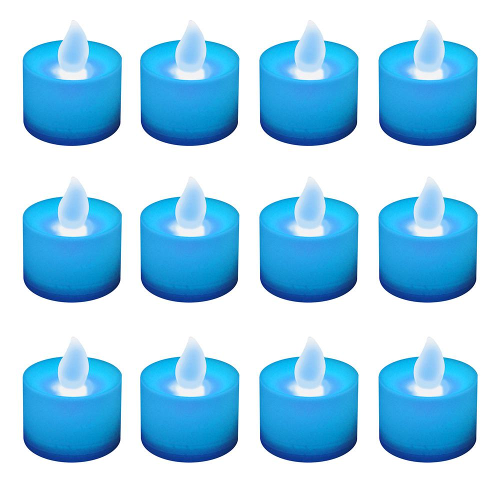 Lumabase Blue LED Tealights (Box of 12)