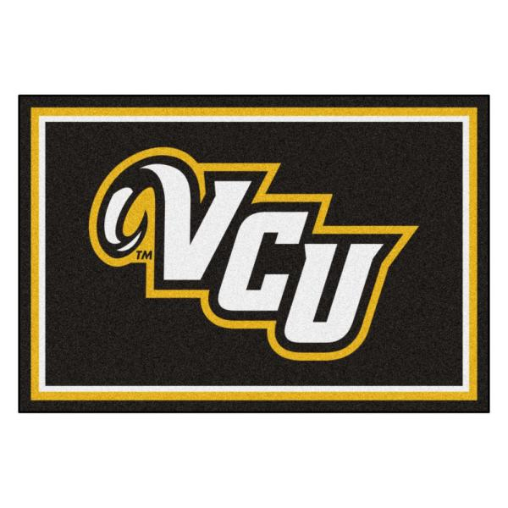 NCAA - Virginia Commonwealth University Black 8 ft. x 5 ft. Indoor Area Rug