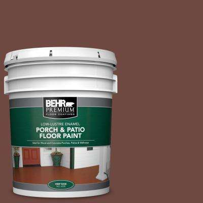 Behr Premium 5 Gal Pmd 108 Double Chocolate Low Lustre Enamel Interior Exterior Porch And Patio Floor Paint 630005 The Home Depot