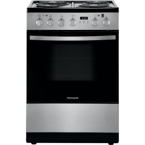 24 in. 1.9 cu. ft. Freestanding Electric Range with Manual Clean in Stainless Steel