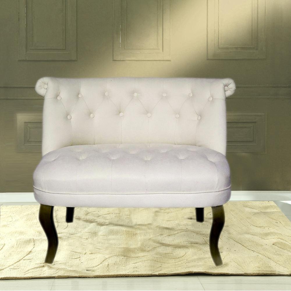 French Pee Sofa Beige Linen
