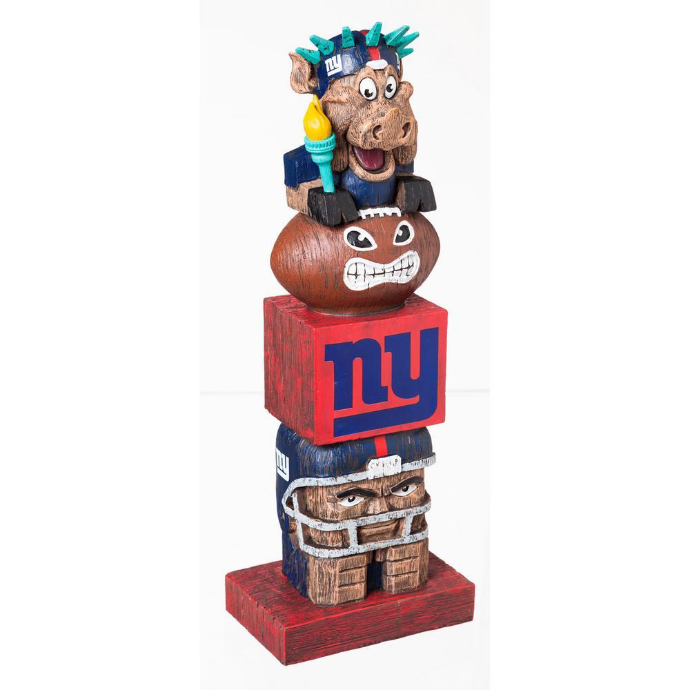 New York Giants Tiki Totem Garden Statue