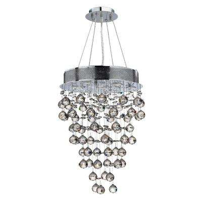 Icicle Collection 7-Light Polished Chrome and Clear Crystal Chandelier