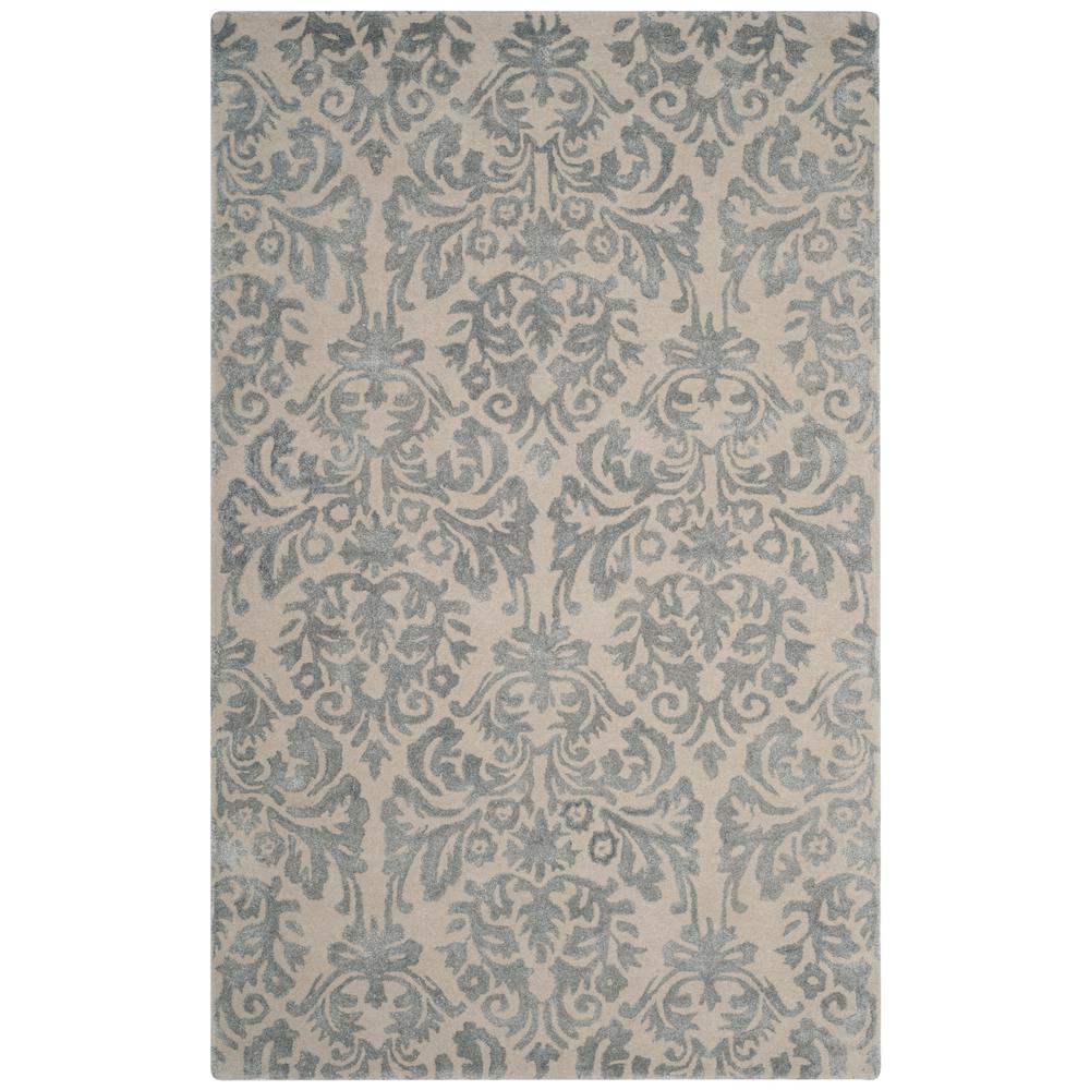 94b6e507f Safavieh Bella Ivory Silver 5 ft. x 8 ft. Area Rug-BEL156A-5 - The ...