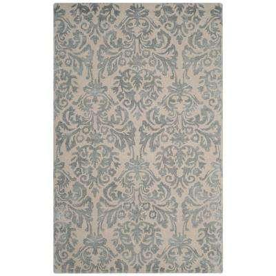Bella Ivory/Silver 5 ft. x 8 ft. Area Rug