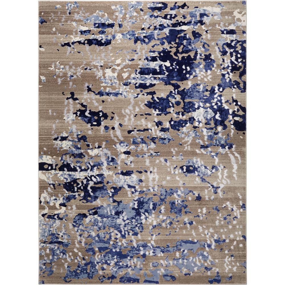 Vogue Gray/Blue 5 ft. x 7 ft. Indoor Area Rug
