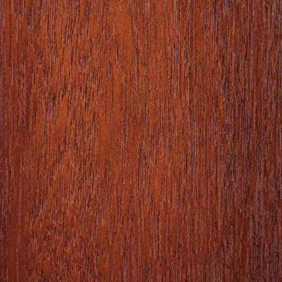 4 in. x 3 in. Wood Garage Door Sample in Meranti with Mahogany 045 Stain