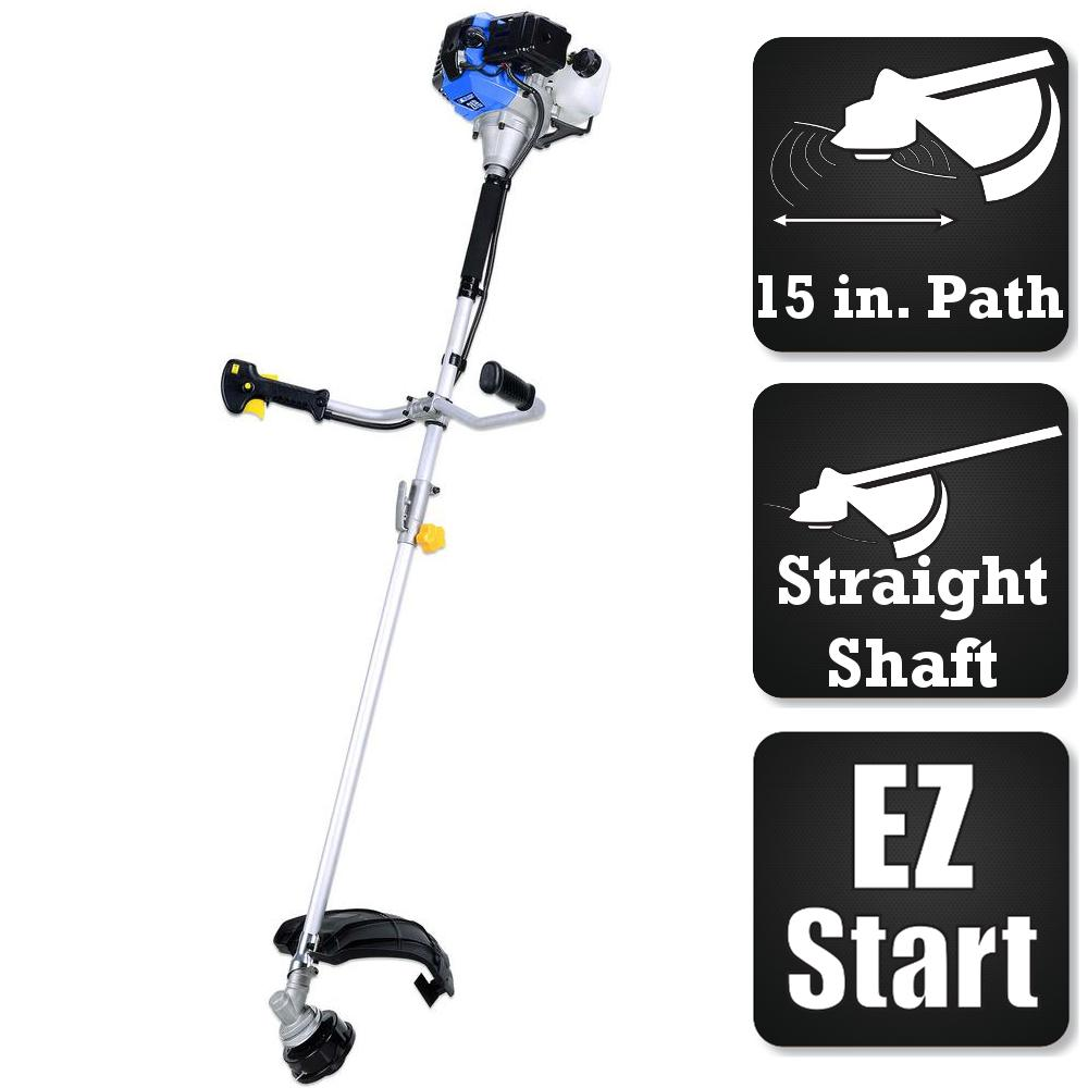 BlueMax Blue Max 2-Cycle 42.7cc Straight Shaft Trimmer and Brush Cutter Combo