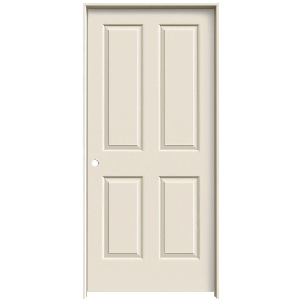 JELD-WEN 36 in. x 80 in. Coventry Primed Right-Hand Smooth Molded Composite MDF Single Prehung Interior Door
