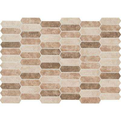 Sandhills Picket 9.5 in. x 14 in. x 6 mm Glass Mesh-Mounted Mosaic Tile (13.95 sq. ft./case)