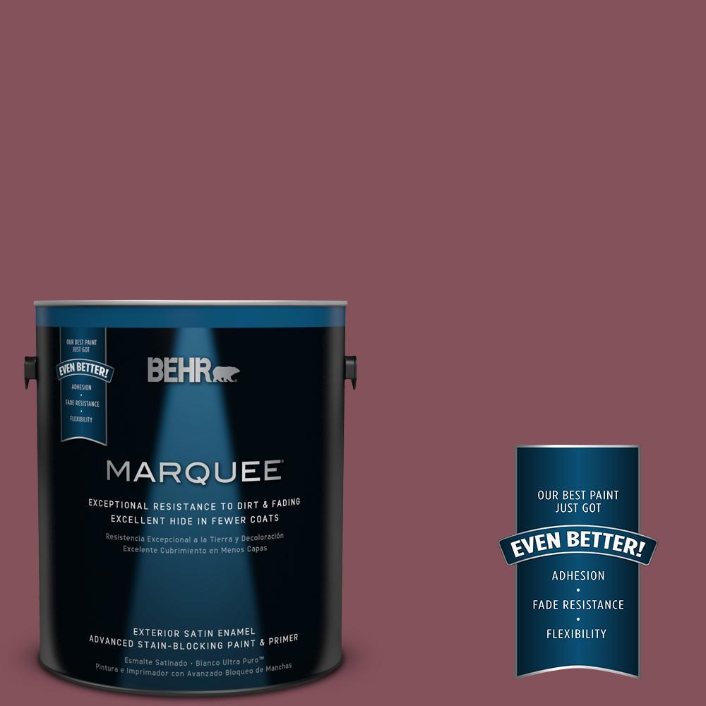 BEHR MARQUEE 1-gal. #PPU1-15 So Merlot Satin Enamel Exterior Paint