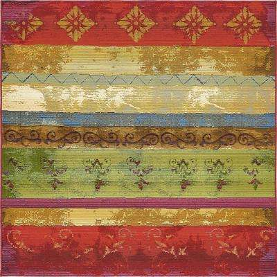 Outdoor Traditional Multi 6' 0 x 6' 0 Square Rug