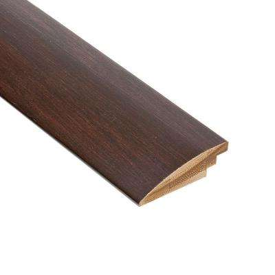 Horizontal Walnut 3/8 in. Thick x 2 in. Wide x 78 in. Length Bamboo Hard Surface Reducer Molding