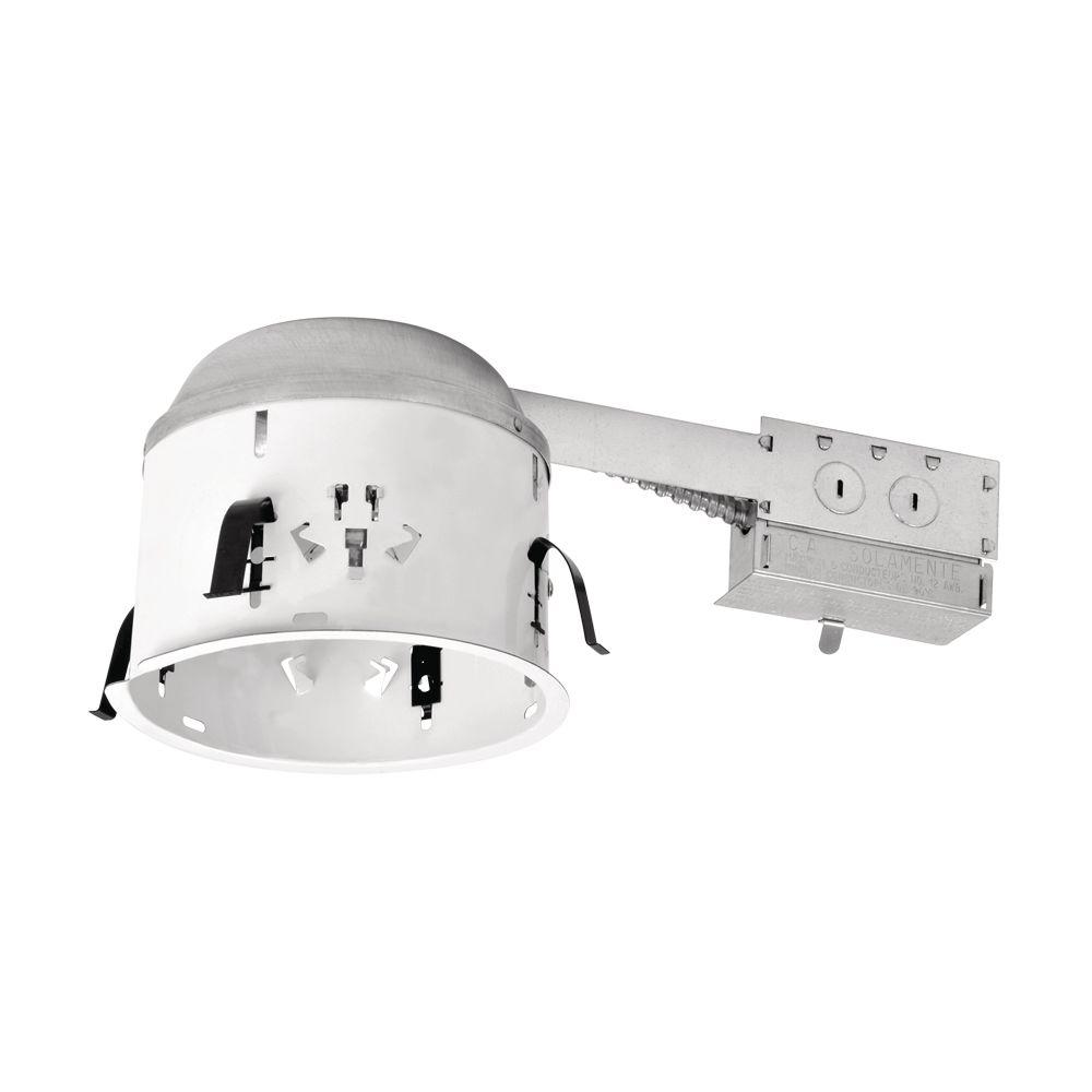 6 in halo non insulation contact recessed lighting housings steel recessed lighting housing for remodel shallow ceiling no insulation contact aloadofball Image collections