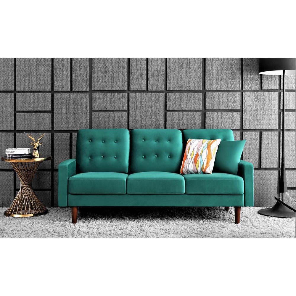 Kelleher Tufted Velvet Fabric Sofa Gold