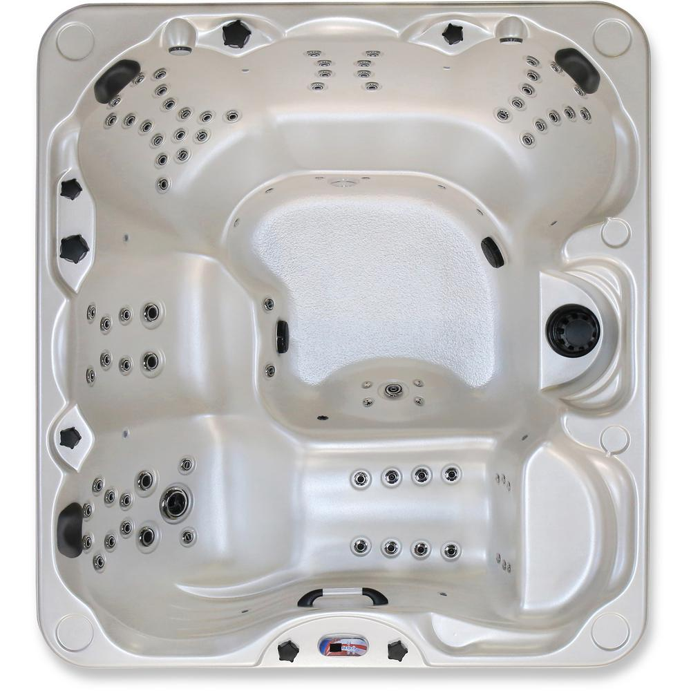 American Spas 6-Person 85-Jet Lounger Hot Tub Spa with Bluetooth ...