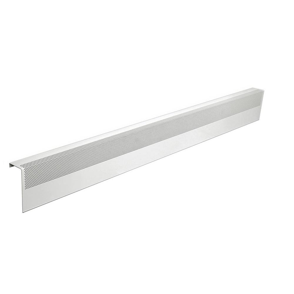 Basic Series 5 ft. Galvanized Steel Easy Slip-On Baseboard Heater Cover