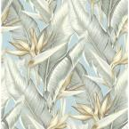 Arcadia Blueberry Banana Leaf Paper Strippable Roll Wallpaper (Covers 56.4 sq. ft.)