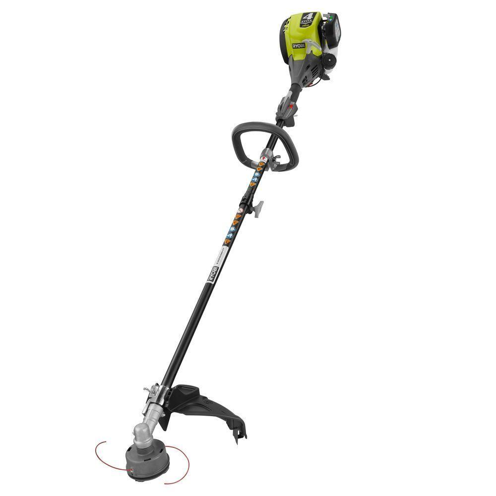 Ryobi Reconditioned 4 Cycle 30cc Attachment Capable Straight Shaft Gas Trimmer Zrry34440 The Home Depot