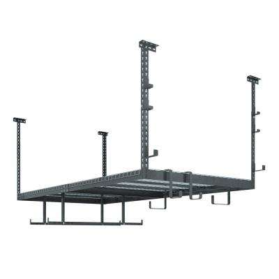 VersaRac 42 in. H x 48 in. W x 96 in. D Adjustable Height Garage Ceiling Mounted Steel Storage Unit Gray
